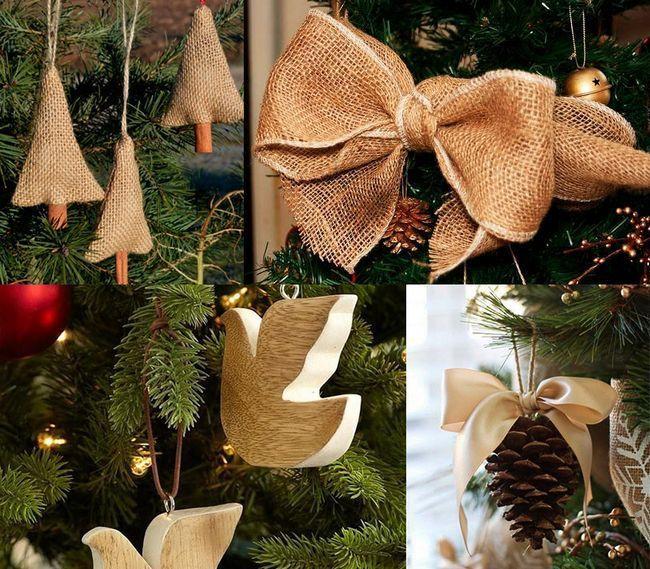 Прикраса ялинки на Новий рік в еко-стилі