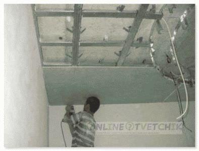 Будинки встановити стелю