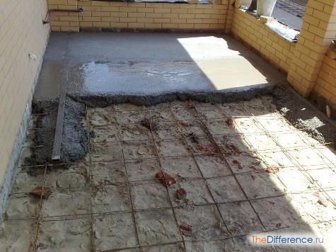 як правильно залити бетонну підлогу в гаражі