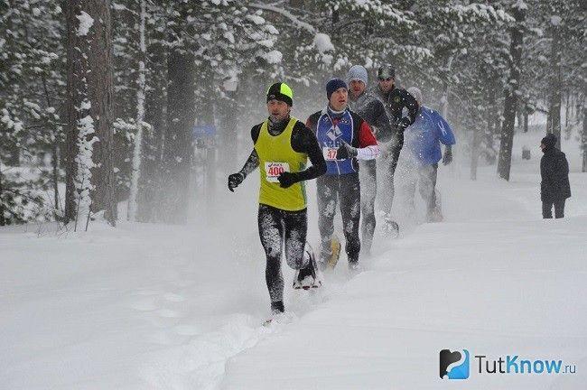 Група людей на зимовій пробіжці