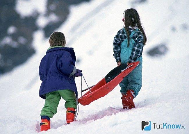 Діти на зимовій прогулянці