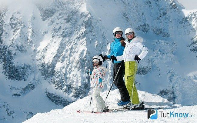 Сім`я на лижах