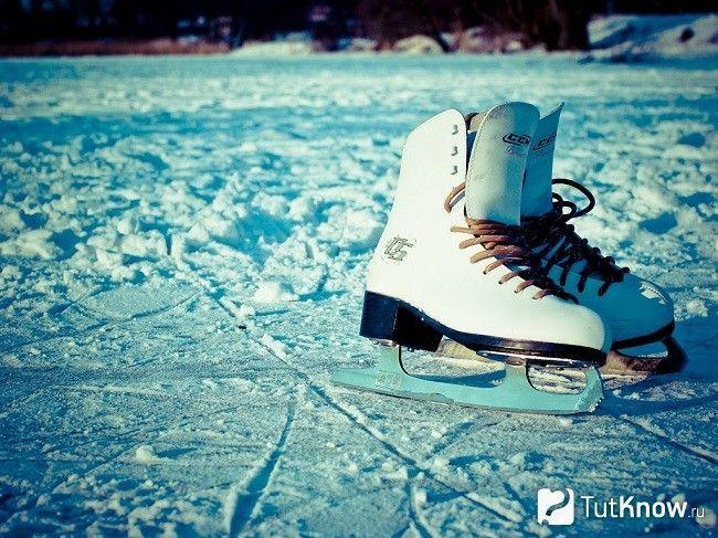 Ковзани на льоду
