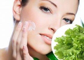 Які маски можна приготувати з листя зеленого салату?