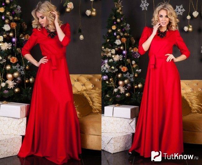 Червоне новорічне плаття