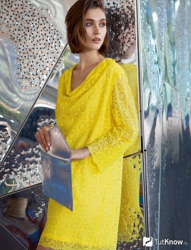 Жовте святкову сукню на Новий рік