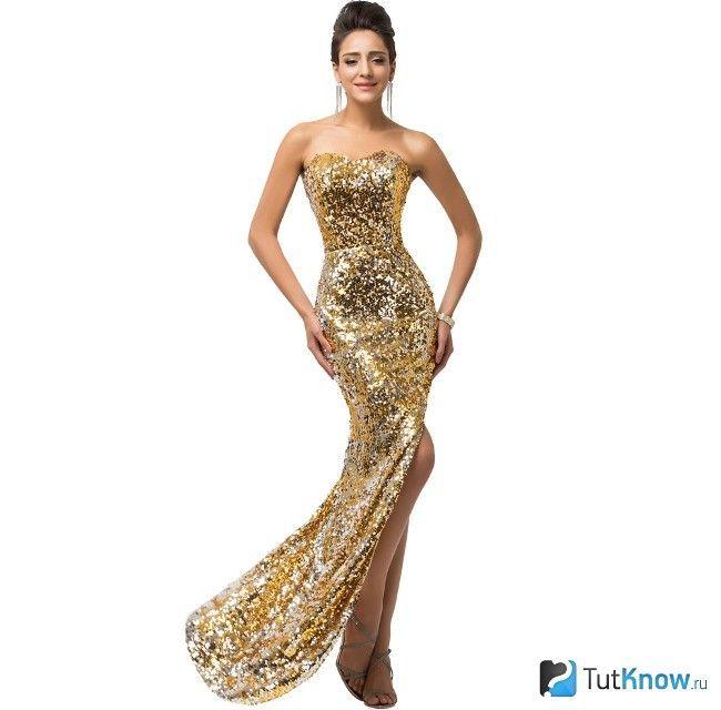 Золоте новорічне плаття