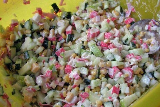 Крабовий салат рецепт без рису