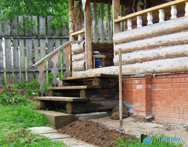 Виготовлення дерев`яного ганку для лазні