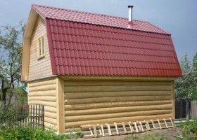 Ламана дах для лазні: технологія будівництва