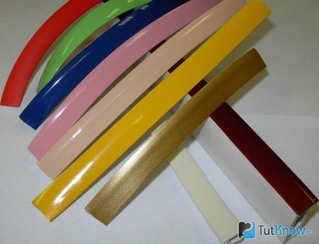 Кольори маскувальних стрічок для натяжної стелі