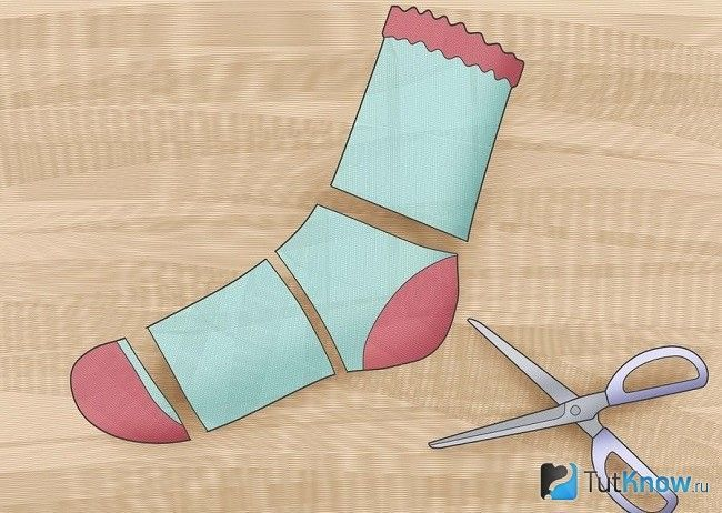 Заготовки з шкарпеток для топа
