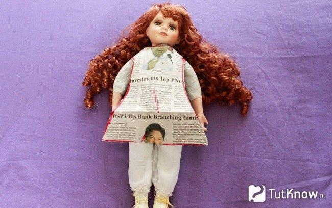 Примірка викрійки на ляльку