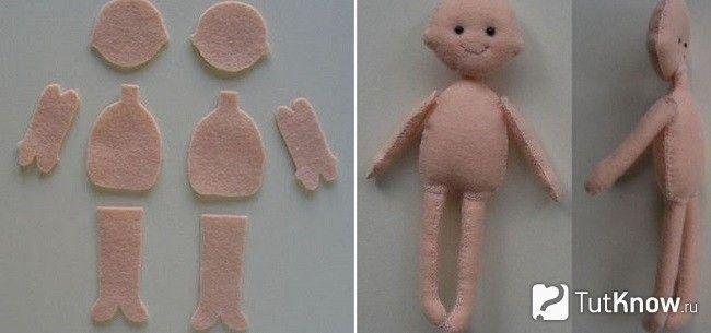 Заготовки для ляльки з фетру