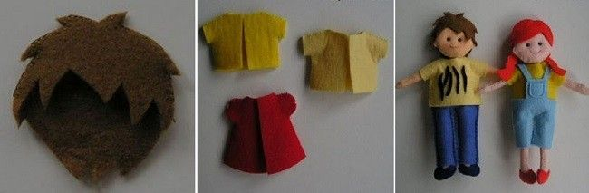 Одяг з фетру для ляльок