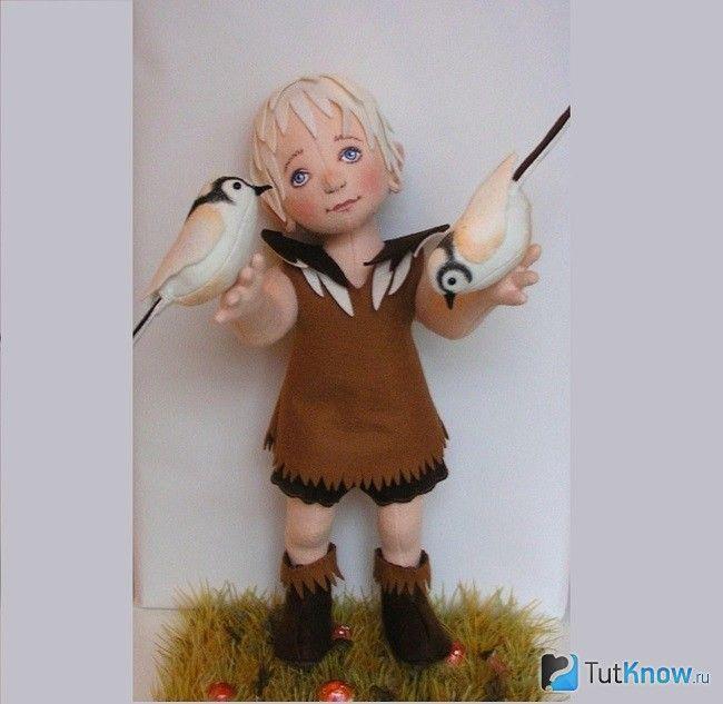 Об`ємна лялька з фетру