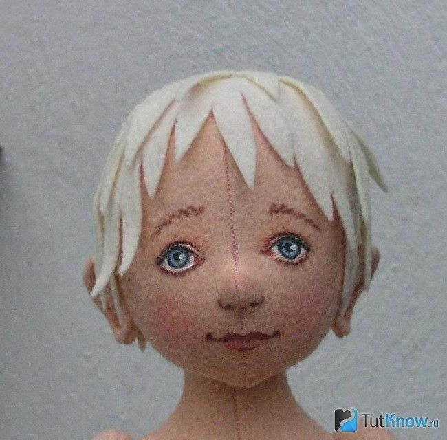 Волосся об`ємної ляльки з фетру