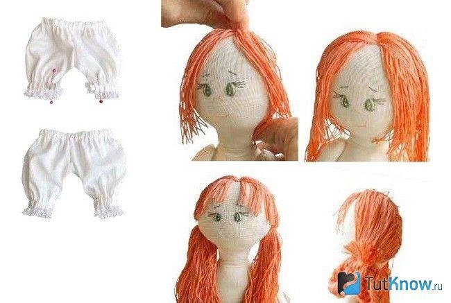 Формування голови тканинної ляльки
