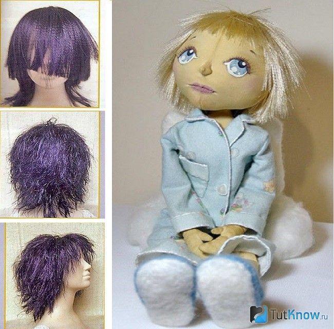 Зачіска з атласних стрічок