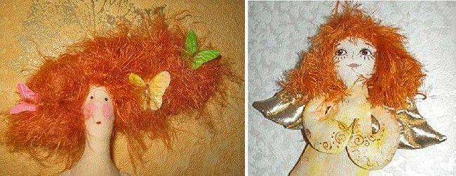 Недбала зачіска з пряжі травичка