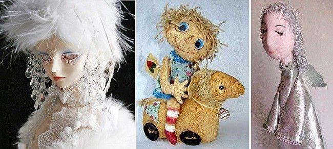 Волосся для ляльки з пір`я і лляної клоччя