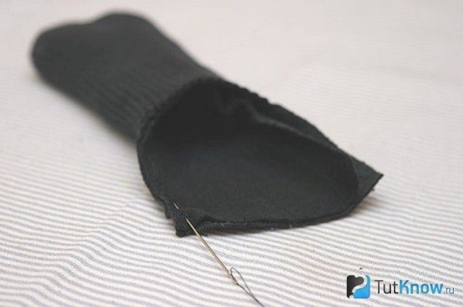 Зшивання деталей носка