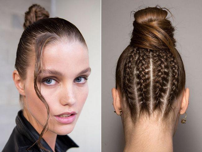 Зачіски з пучком весна-літо 2017