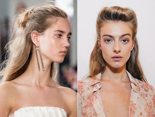 Розпущене волосся, прибрані від особи весна-літо 2017
