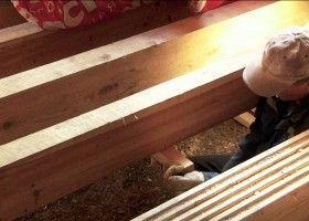 Монтаж чорнових дерев`яних підлог