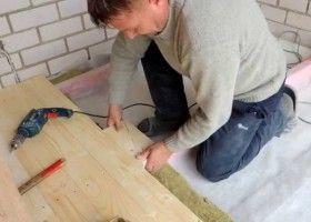Монтаж дерев`яної підлоги