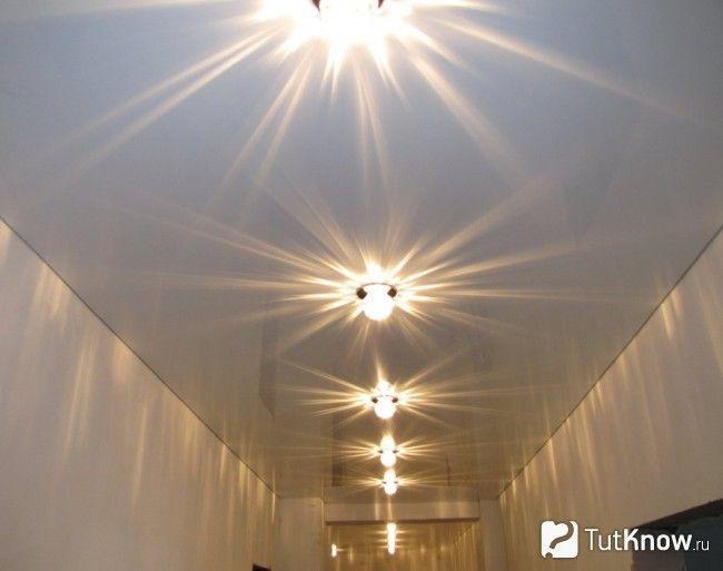 Люмінесцентні світильники в натяжній стелі