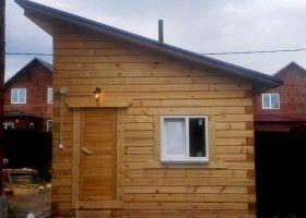 Односхилий дах для лазні: технологія будівництва