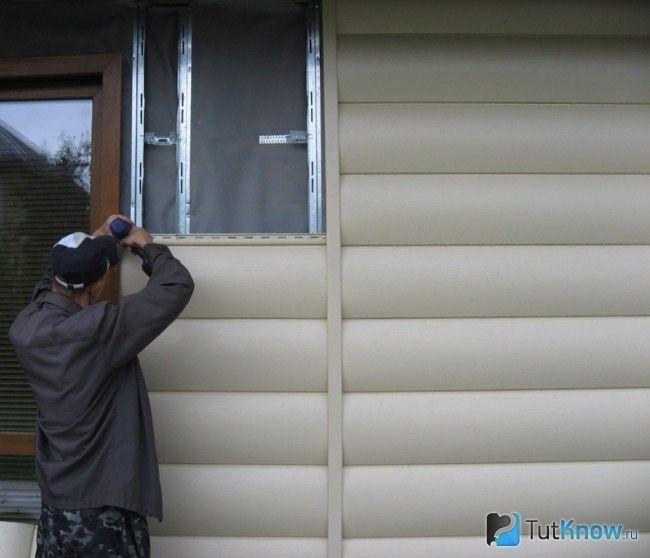 Зовнішня обробка лазні блок-хаусом
