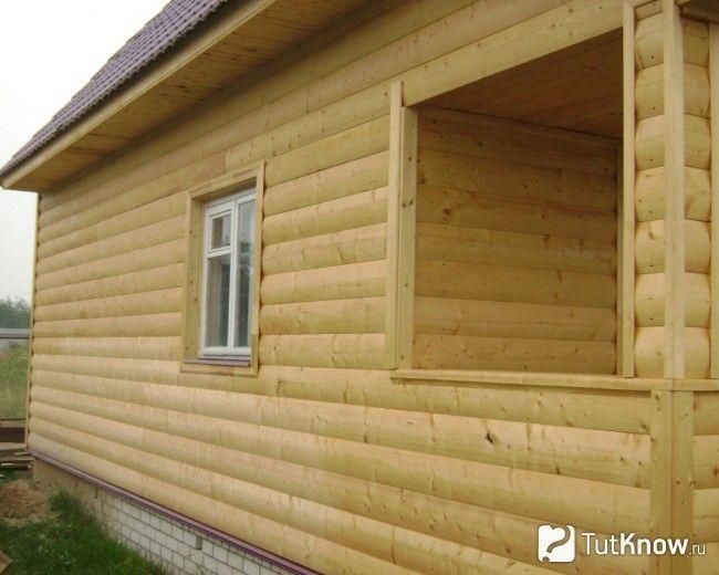 Оздоблення лазні блок-хаусом зовні