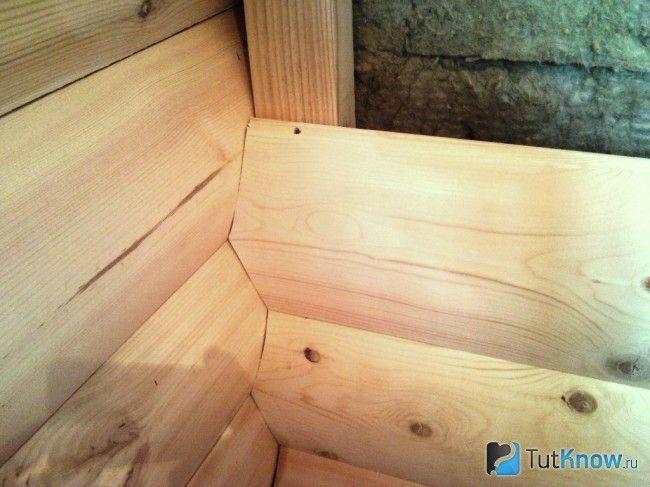 Кріплення блок-хауса усередині лазні