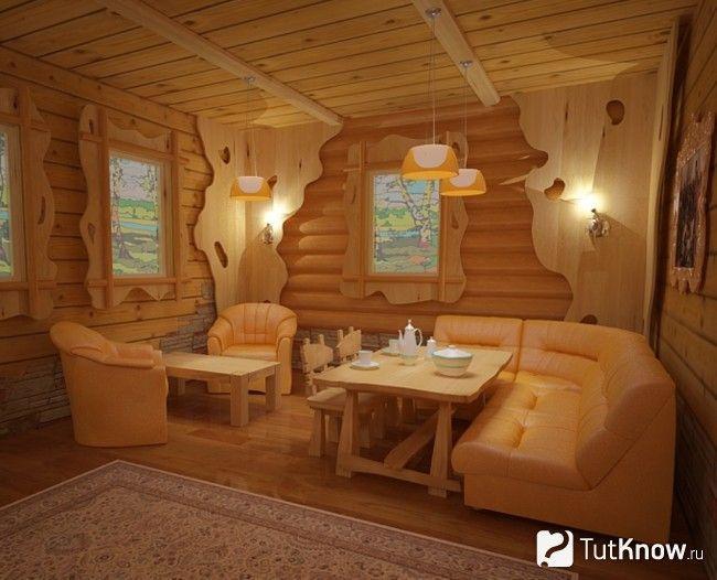 Оздоблення кімнати відпочинку деревом