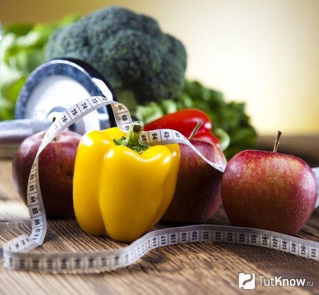 Низькокалорійні фрукти і овочі