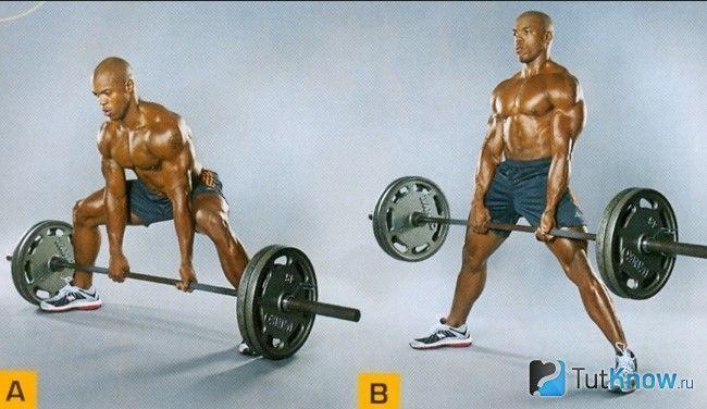 Спортсмен виконує станову тягу