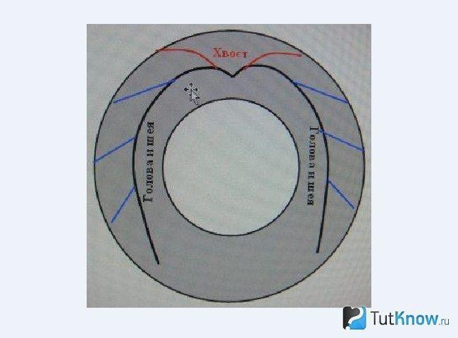 Схема розмітки для виготовлення клумби з покришки