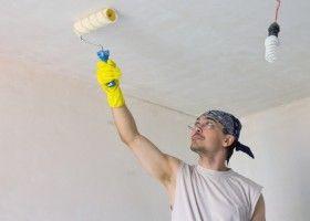 Підготовка стелі під фарбування
