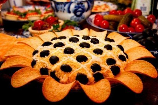 Соняшник салат рецепт з куркою