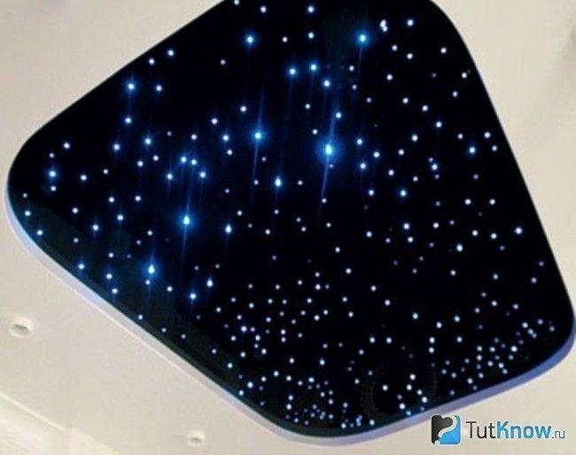 Зоряне небо з оптоволокна в кімнаті відпочинку