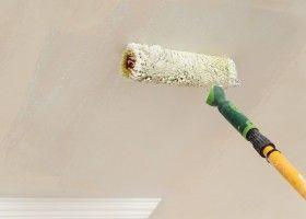 Нанесення на стелю акрилової фарби