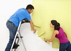 Фарбування стіни з гіпсокартону