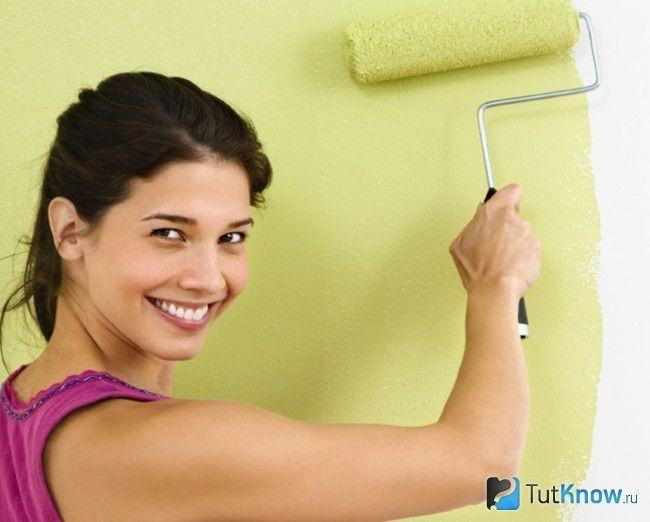 Нанесення фарби на стіни з гіпсокартону
