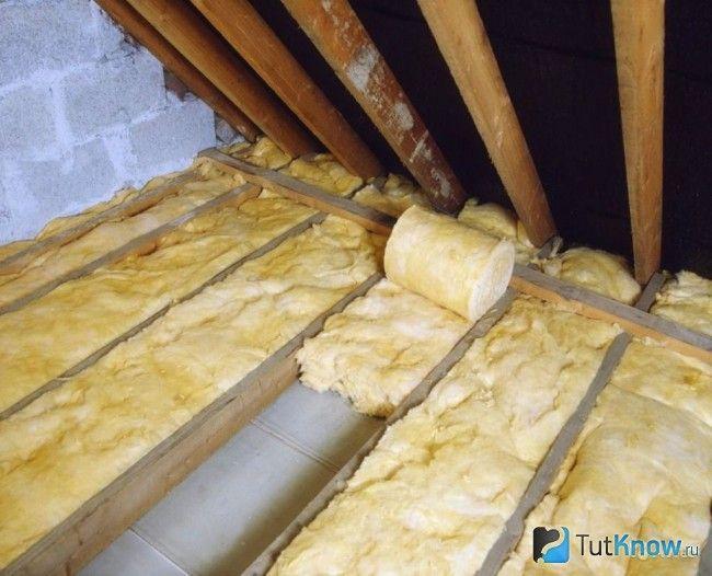 Теплоізоляція стелі в лазні