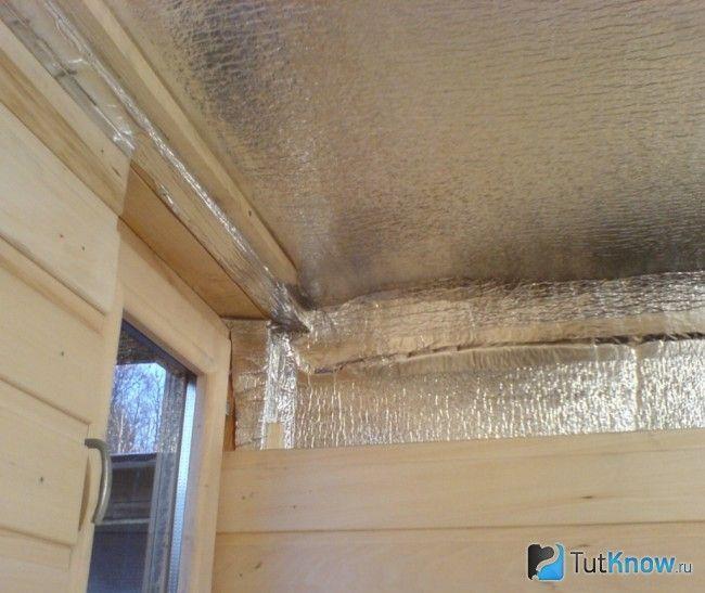 Пароізоляція стельової поверхні лазні