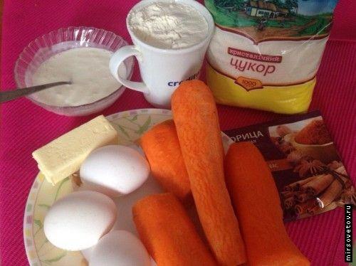 Рецепт морквяних кексів