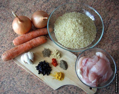 Рецепт приготування плову з куркою
