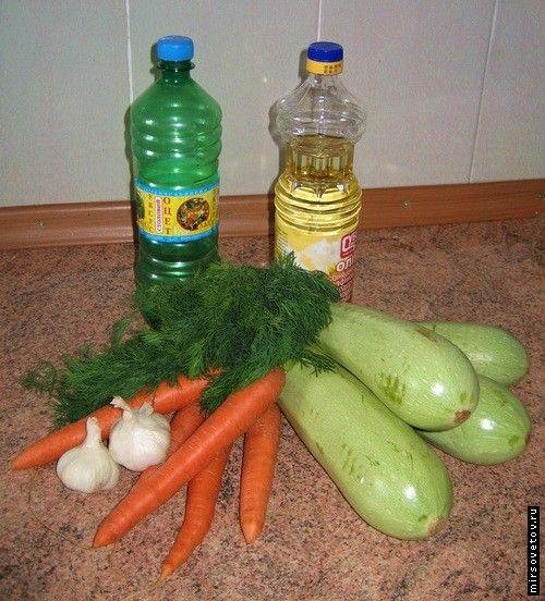 Рецепт салату з кабачків